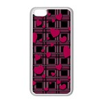 Harts pattern Apple iPhone 5C Seamless Case (White)