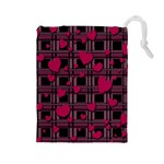 Harts pattern Drawstring Pouches (Large)