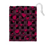 Harts pattern Drawstring Pouches (Extra Large)
