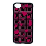 Harts pattern Apple iPhone 7 Seamless Case (Black)