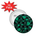 Green love 1.75  Buttons (10 pack)