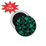 Green love 1.75  Magnets (10 pack)