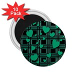 Green love 2.25  Magnets (10 pack)
