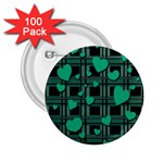 Green love 2.25  Buttons (100 pack)