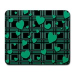 Green love Large Mousepads
