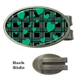 Green love Money Clips (Oval)