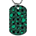 Green love Dog Tag (Two Sides) from ArtsNow.com Front