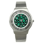 Green love Stainless Steel Watch