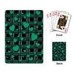 Green love Playing Card