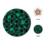Green love Playing Cards (Round)