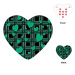 Green love Playing Cards (Heart)