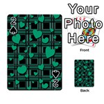 Green love Playing Cards 54 Designs