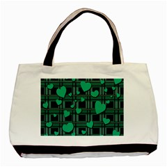 Green love Basic Tote Bag from ArtsNow.com Front