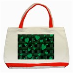 Green love Classic Tote Bag (Red)