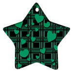Green love Star Ornament (Two Sides)