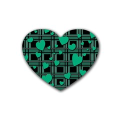 Green love Rubber Coaster (Heart)  from ArtsNow.com Front