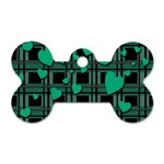 Green love Dog Tag Bone (Two Sides)