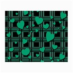 Green love Small Glasses Cloth (2-Side)