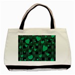 Green love Basic Tote Bag (Two Sides)