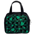 Green love Classic Handbags (2 Sides)