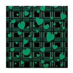Green love Face Towel