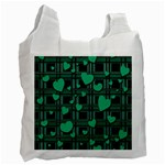 Green love Recycle Bag (One Side)