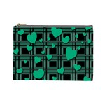 Green love Cosmetic Bag (Large)