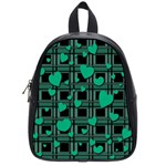 Green love School Bags (Small)