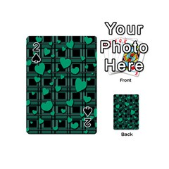Green love Playing Cards 54 (Mini)  from ArtsNow.com Front - Spade2