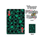 Green love Playing Cards 54 (Mini)  from ArtsNow.com Front - Heart2