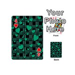 Green love Playing Cards 54 (Mini)  from ArtsNow.com Front - Heart4