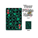 Green love Playing Cards 54 (Mini)  from ArtsNow.com Front - Heart9