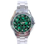 Green love Stainless Steel Analogue Watch