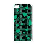 Green love Apple iPhone 4 Case (White)