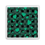 Green love Memory Card Reader (Square)