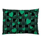 Green love Pillow Case (Two Sides) from ArtsNow.com Back