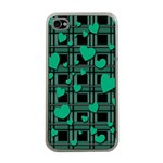 Green love Apple iPhone 4 Case (Clear)