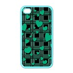 Green love Apple iPhone 4 Case (Color)