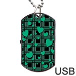 Green love Dog Tag USB Flash (Two Sides)