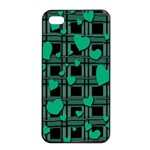 Green love Apple iPhone 4/4s Seamless Case (Black)