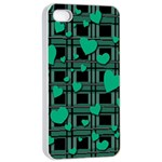 Green love Apple iPhone 4/4s Seamless Case (White)