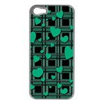Green love Apple iPhone 5 Case (Silver)
