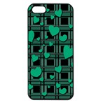 Green love Apple iPhone 5 Seamless Case (Black)