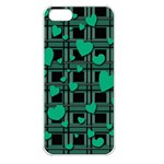 Green love Apple iPhone 5 Seamless Case (White)