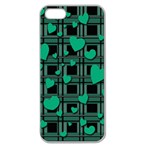 Green love Apple Seamless iPhone 5 Case (Clear)