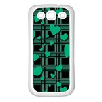 Green love Samsung Galaxy S3 Back Case (White)