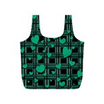 Green love Full Print Recycle Bags (S)