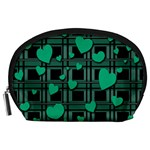 Green love Accessory Pouches (Large)