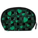 Green love Accessory Pouches (Large)  from ArtsNow.com Back