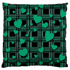 Green love Standard Flano Cushion Case (One Side) from ArtsNow.com Front